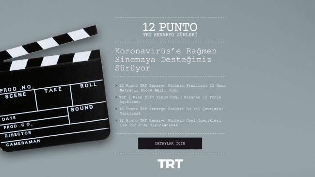 12 Punto TRT Senaryo Günleri'nin 12 finalisti belli oldu. Ustaya saygı ödülü Nuri Bilge Ceylan'ın