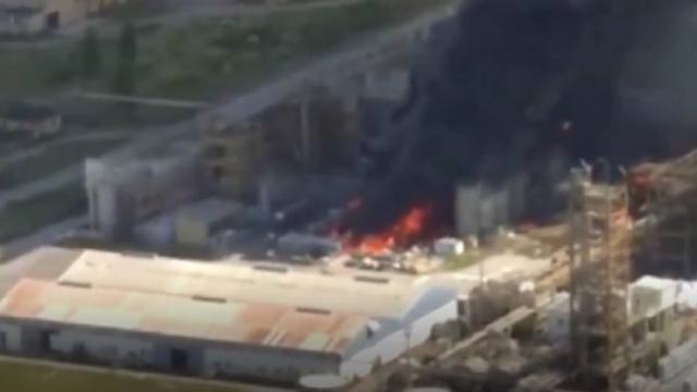 Venedik'te kimyasal fabrikada patlama