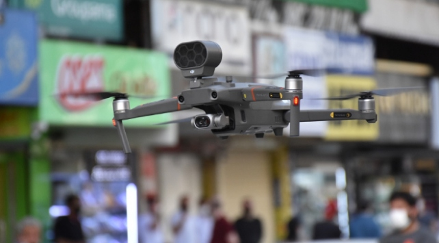 Gaziantepte drone ile maske denetimi