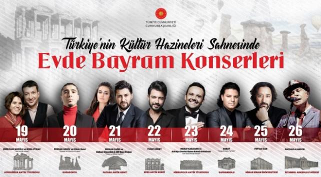 Türkiyenin kültür hazineleri konserlerle renklenecek