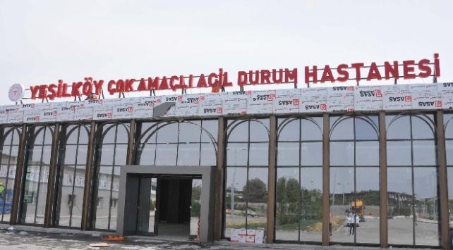 Atatürk Havalimanındaki hastanenin tabelası asıldı