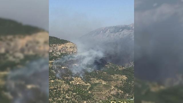 KKTC'deki yangına Türkiye'den yardım