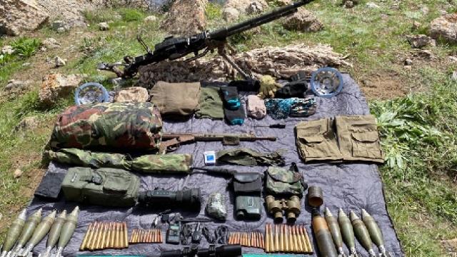 Van'da teröristlerin kullandıkları mühimmatlar imha edildi