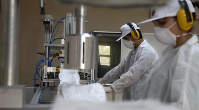 Tekirdağdaki lisede N95 maskenin seri üretimine başlandı