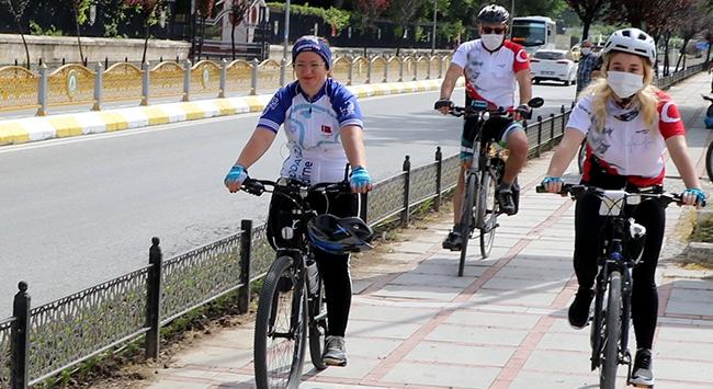 """Edirnede """"19 Mayıs bisiklet turu"""" düzenlendi"""