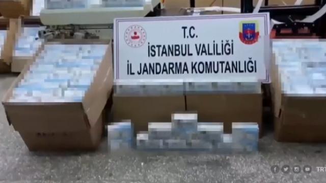 İstanbul'da izinsiz üretilen 800 bin maske ele geçirildi
