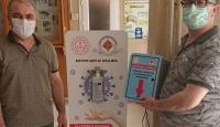 Adana'da meslek lisesinde sensörlü dezenfektan cihazı üretildi