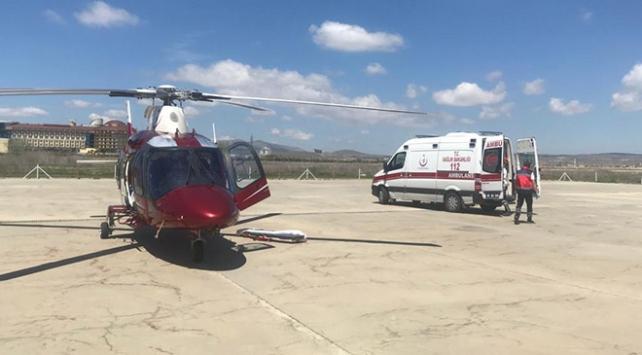 Ambulans helikopter 1,5 yaşındaki bebek için havalandı