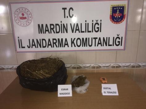 Mardinde uyuşturucu operasyonunda 5 kilogram esrar ele geçirildi