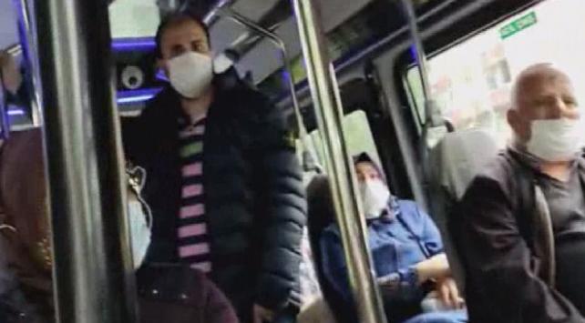 Tedbirlere uymayan minibüsten 16 yolcu fazla çıktı