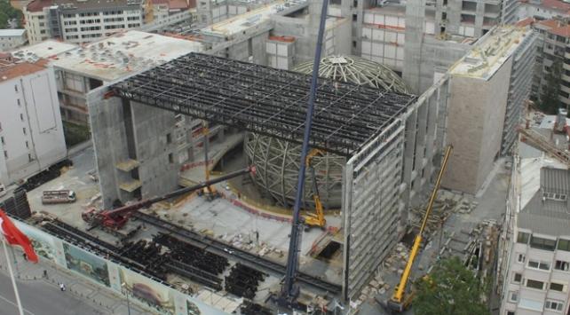 Taksimdeki yeni AKMnin kaba inşaatının yüzde 95i tamamlandı
