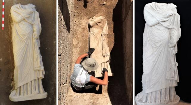 Patarada bulunan heykel arkeologları heyecanlandırdı