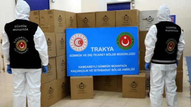 Türkiye'ye giriş yapan tırda milyonlarca makaron ele geçirildi