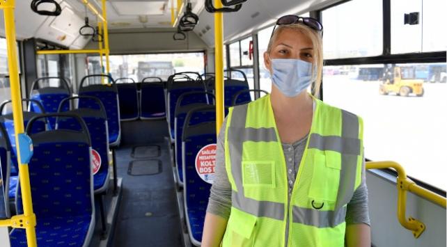 Ankaranın kadın otobüs şoförleri trafiğe çıkacakları günü bekliyor