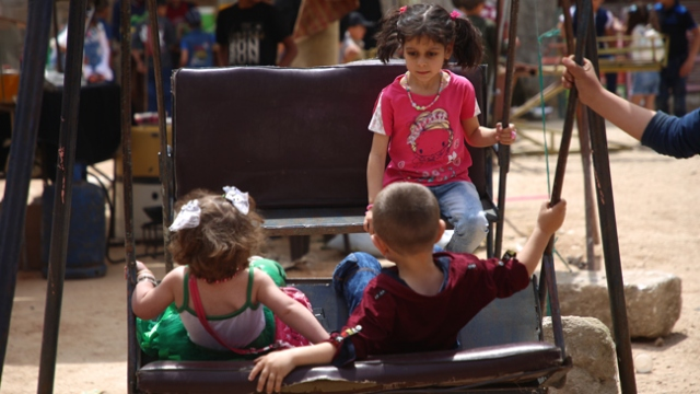 İdlib'de çocukların bayram coşkusu