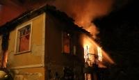 Kırklareli'nde iki katlı metruk binada yangın