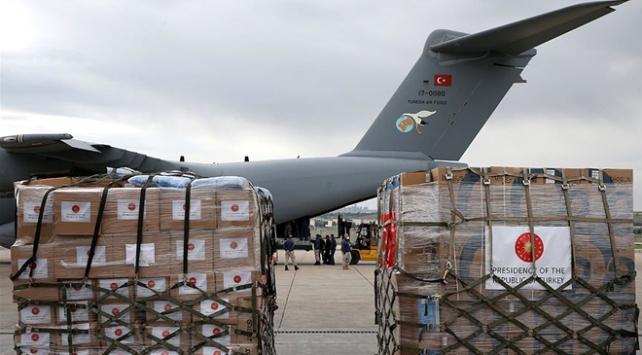 Türkiyenin yardım uçağı Çada ulaştı