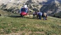 Yaylada rahatsızlanan gencin imdadına ambulans helikopter yetişti
