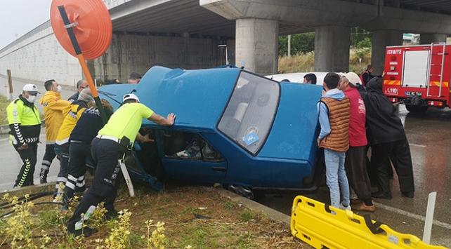Kazada yaralanan çift için seferber oldular