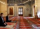 Selimiye Camii'nde namaz kılınabilecek alanlar bantlarla işaretlendi