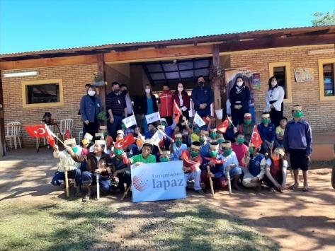 Türkiyeden Paraguaydaki bakıma muhtaç çocuklara yardım