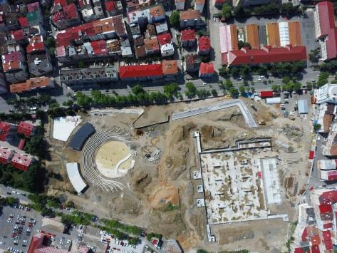 Trabzonda yapımı devam eden Millet Bahçesi eylül ayında açılacak