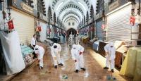 Tarihi Mısır Çarşısı'nda temizlik ve dezenfeksiyon çalışması yapıldı