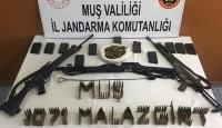 Muş'ta teröristlere ait silah ve mühimmat ele geçirildi