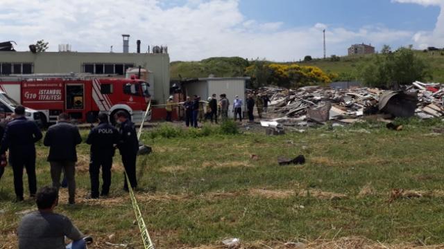 Başakşehir'de bir fabrikanın kazan dairesinde patlama