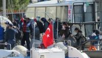 Yunan güçlerinin ölüme terk ettiği sığınmacılar kurtarıldı