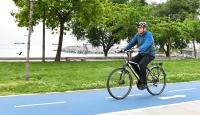 İstanbul Valisi Ali Yerlikaya, iş yerine bisikletle geldi