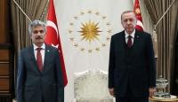 Cumhurbaşkanı Erdoğan, Danıştay Başkanı Yiğit ve AYM Başkanı Arslan'ı kabul etti