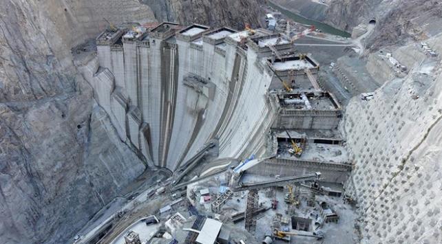 Yusufeli Barajı'nda beton gövdenin yüzde 75'i tamamlandı