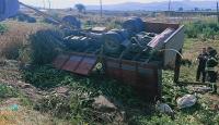 Aydın'da tarım işçilerini taşıyan kamyon devrildi: 2 ölü, 8 yaralı