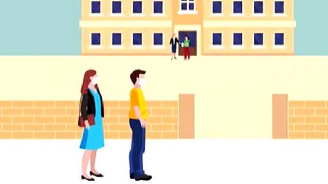 ÖSYM'den 2020 MSÜ için alınan önlemlerle ilgili animasyon