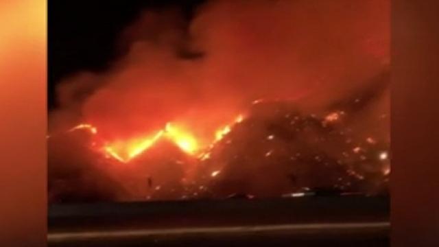 ABD'de yangın: 50 dönüm arazi küle döndü