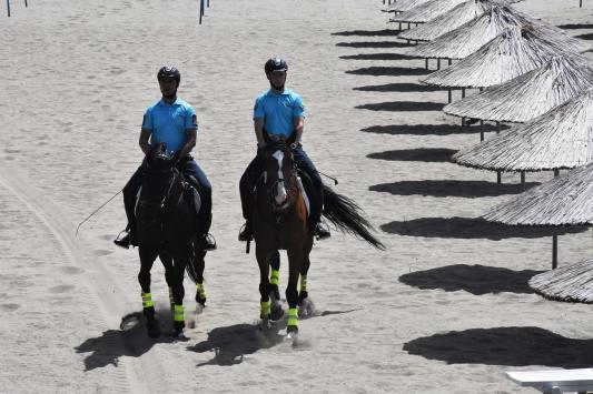 Muğlanın ünlü plajlarında atlı jandarma timi devriyeye başladı