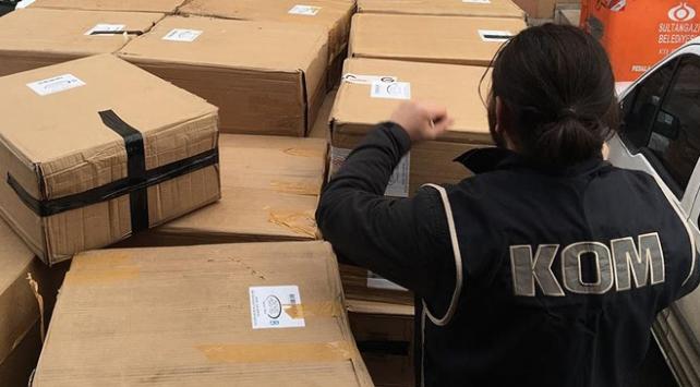 22 bin şişe kaçak parfüm ele geçirildi