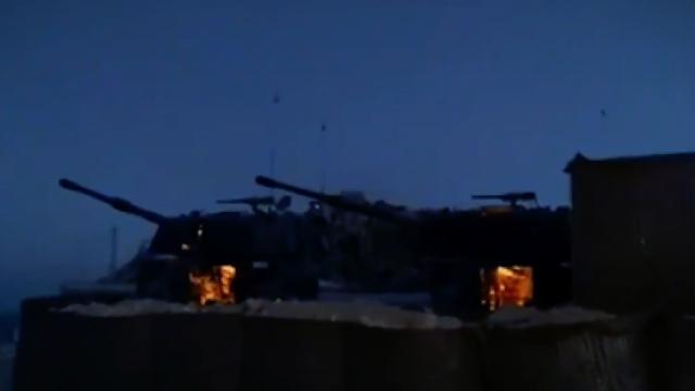 Pençe-Kaplan Operasyonu'na katılan topçu birliklerinin atış görüntüleri paylaşıldı