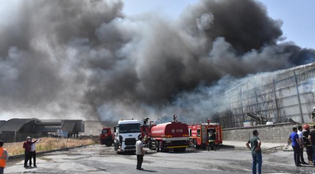Gaziantep OSBde fabrika yangını