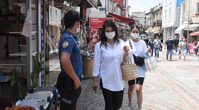 Edirnede trafiğe kapalı caddelere maskesiz giriş yasaklandı