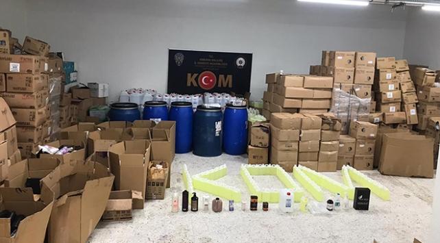 Ankarada kozmetik ürün kaçakçılığı operasyonu