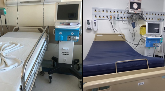 Türkiyede üretilen solunum cihazları Brezilyadaki hastanelerde