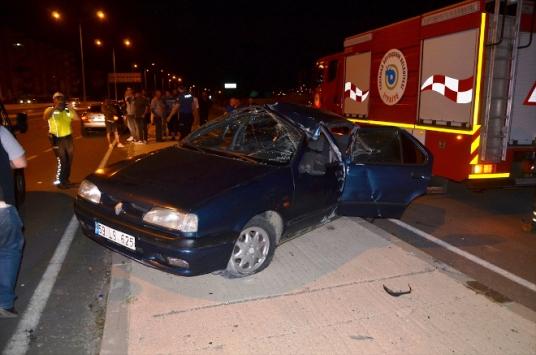 Tekirdağda otomobil devrildi: 4 yaralı