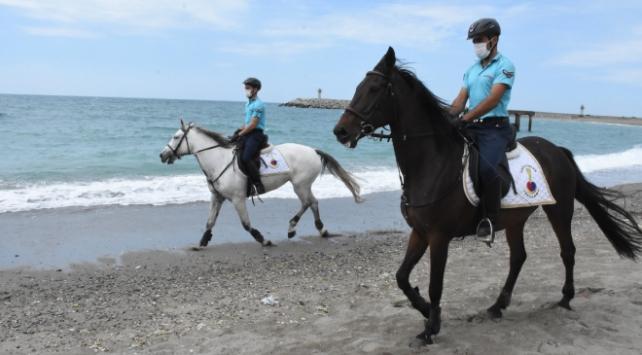 Zonguldakta atlı tim göreve hazır