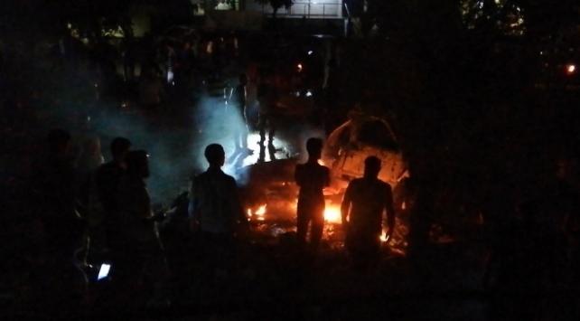 Afrinde teröristlerin bombalı saldırısında 4 sivil yaralandı
