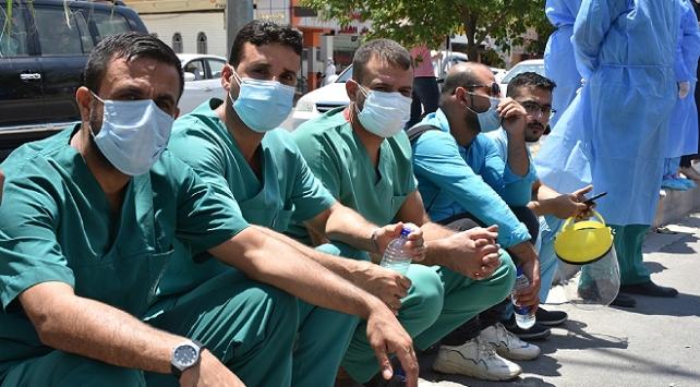 Kerkükte sağlık personeli çalışma koşullarını protesto etti