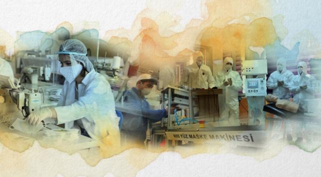Fabrika gibi çalışan meslek liselerinde virüs mücadelesi