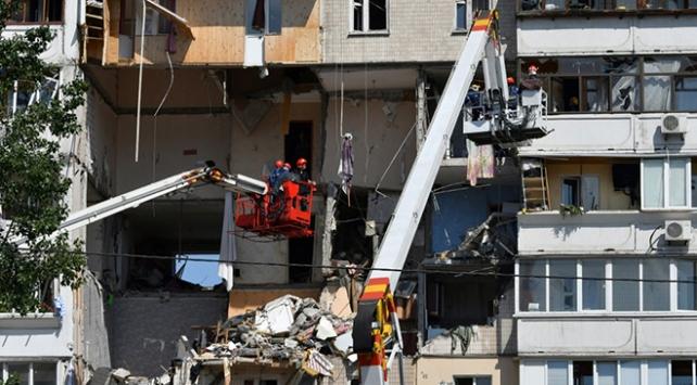 Ukraynada 9 katlı apartmanda patlama: 3 ölü