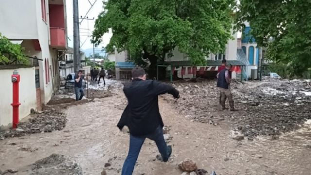 Bursa'daki sel felaketi havadan görüntülendi